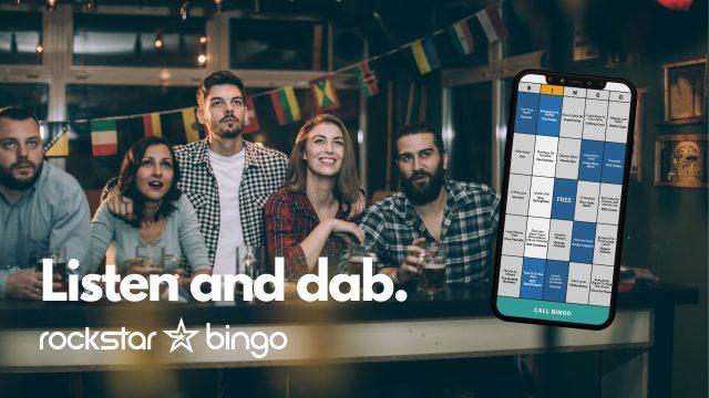 Listen and Dab with Rockstar Bingo Music Bingo